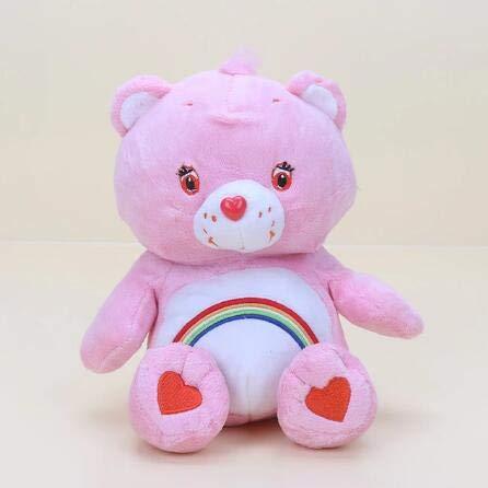 Troetelbeertjes Knuffel, Regenboog Teddybeer Gevulde Pluche Pop, Babyslaap Speelgoed, Verjaardagscadeau Voor Kinderen Voor 30 Cm (Roze)