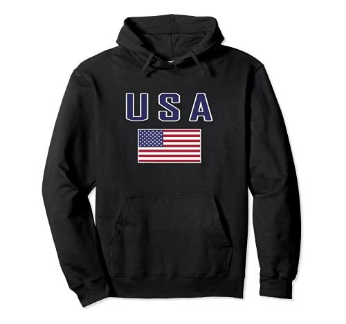 Bandera Estados Unidos USA American Flag Hombre Mujer Sudadera con Capucha