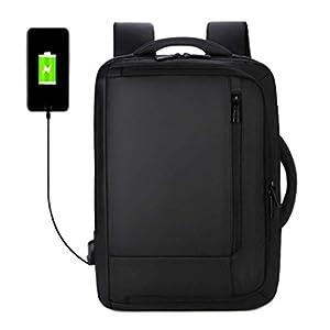 T.D.Well 2021年 最新 ビジネスリュック USB充電ポート付き ビジネスバッグ 3way 通勤リュック 15.6インチ PCバッグ メンズ レディース 防水 軽量 薄型 小型 丈夫 黒