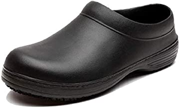 INiceslipper Unisex Chef Shoes Non-Slip Safety Shoes Oil Water Black