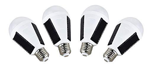 OALUX 12W Solar LED Bulb Portable Emergency Light Rechargeable Lamp Waterproof Lantern 4 Packs