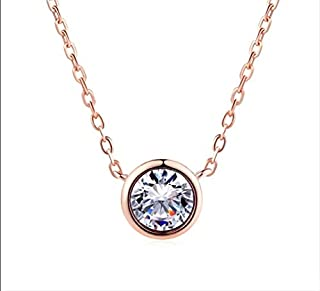 QFH Simple Style Cubic Zirconia Necklaces Pendants Fashion Jewelry Women Chain Accessiories(Clear) Fashion in 2020 (Color : Clear)