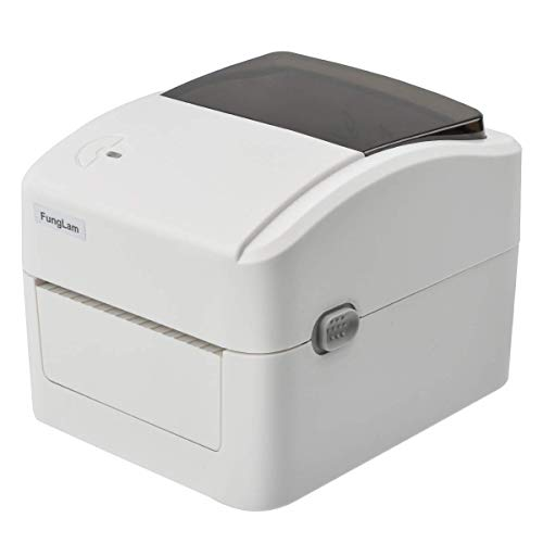 FungLam Label Printer, High Speed USB Direct Thermal Label Printer for Amazon, Ebay, Etsy, Shipify Labeling, 4x6 Shipping Label Printer, Thermal Printer, White
