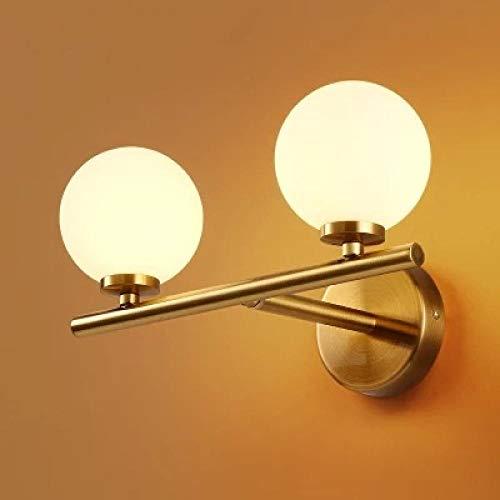Nordic moderne led-wandlamp glazen bol badkamerspiegel in Amerikaanse retro wandlamp