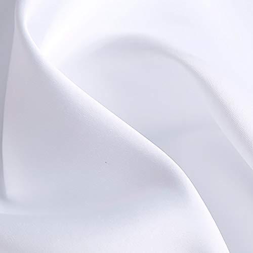 MUYUNXI Raso Satinato Seta Usato per Pigiama Cappello Dormire Biancheria Intima Tovaglia Eventi per Matrimoni Feste 150 Cm di Larghezza Venduto al 2 Metro(Color:candeggiare)