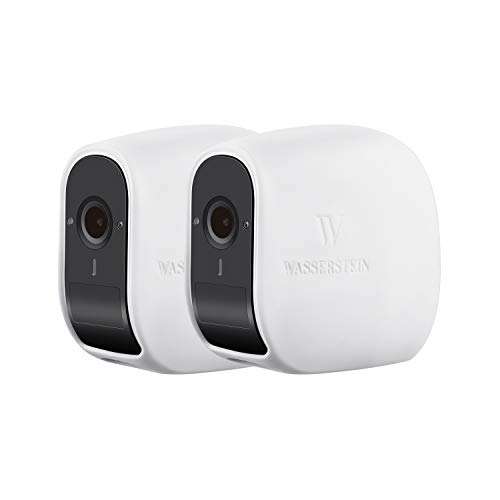 Wasserstein Silikon Hüllen kompatibel mit der eufyCam E Wireless Security Kamera - Tarnung & Zubehör für Ihre Sicherheitskamera (2er-Pack, weiß)