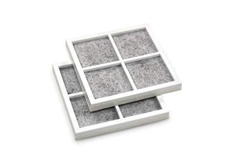 HQRP 2-Pack Air Filter compatible with LG LMXS27626S LMXS27676D LMXS27766S LMXS30746S UPFXC2466S LMXS30776S LMXS30756S LMXS30786S LMXS30796D LNXC23726S LNXC23766D Refrigerator