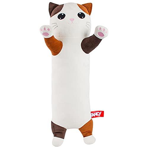 Fancy Katze Kuscheltier Seitenschläferkissen Kinder - 70 cm Plüschtier Katzen Kissen Kawaii Plush Deko Kätzchen süße Plüschtier Anime Plüsh Stofftiere Süße Geschenke