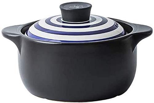 XIAO WEI Casserole Cookware Exquisite Strips Lids Ceramic Casserole Heat-Insulated Stone Pot Best for stewing Soup