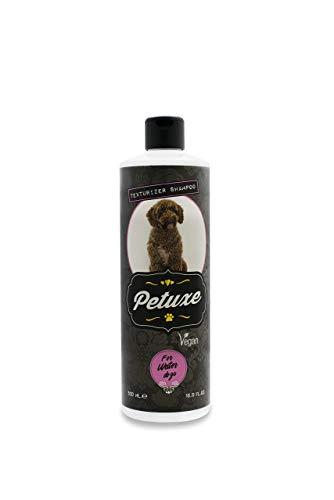 Petuxe Champú Vegano para Perros y Gatos. Texturizador Perro de Agua. Champú Mascotas (500 ml)