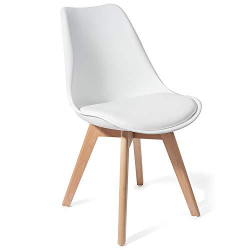 Tomasucci Sedia Kiki Evo Wood White Set 4 sedie
