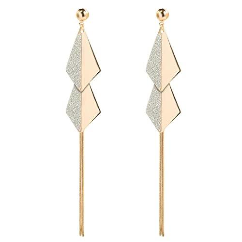 mode lång metall tofs Drop örhängen koreansk joker söt härlig hjärta eleganta kvinnor örhängen