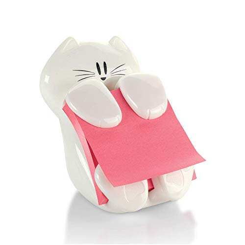 Post-it Cat Figure Pop-up Note Dispenser, 3 inch x 3 inch, (CAT-330), Colors May Vary
