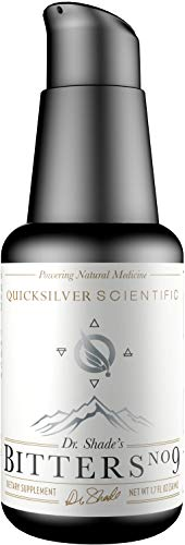 Quicksilver Scientific Dr. Shade's Bitters No. 9 - Fast Acting Liposomal Digestive Bitter Herbs with Advanced Delivery to Support Liver, Kidney + Gut Health (1.7oz / 50ml)