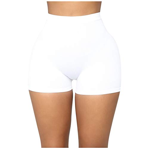 Buy Workout Shorts for Women - Solid Color Seamless Sport Shorts All Day Comfort High Waist Yoga Sho...