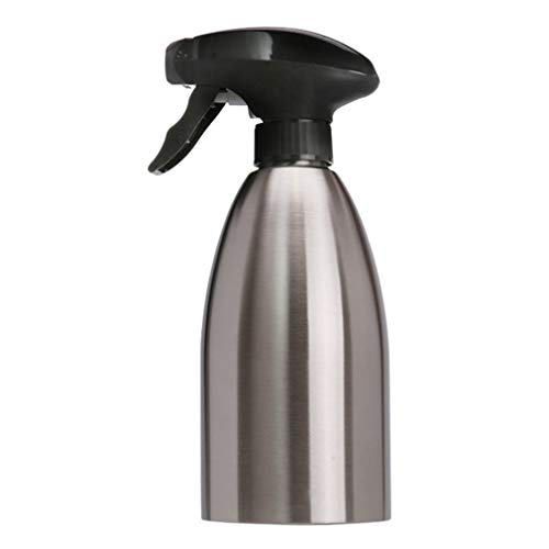 Binghotfire Acero Inoxidable Botella de Spray de Aceite Aceitera Pulverizador Olla Barbacoa Herramienta de Cocina Plata