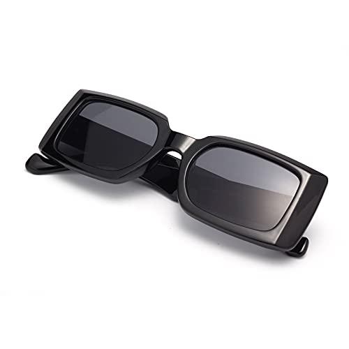 Amorays Gafas de sol rectangulares para mujer pequeñas gafas de sol vintage cuadradas retro años 90 protección UV400
