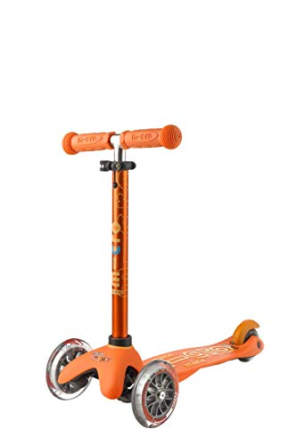 Micro Mobility - Trottinette Mini Deluxe Orange - Trottinette Enfant au Design Original - Apprentissage de l'équilibre en Douceur - De 2 à 5 Ans - Orange