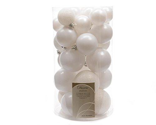 Set di 30 palle di Natale Naoma Bianco