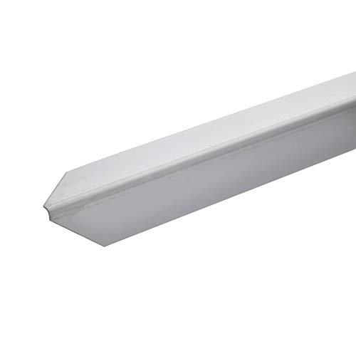 acerto 37553 Perfil de protección angular de acero inoxidable 125cm / 30 x 30 mm * Autoadhesivo * Made in Germany * Triple canto con punta | Perfil angular barra angular como protección