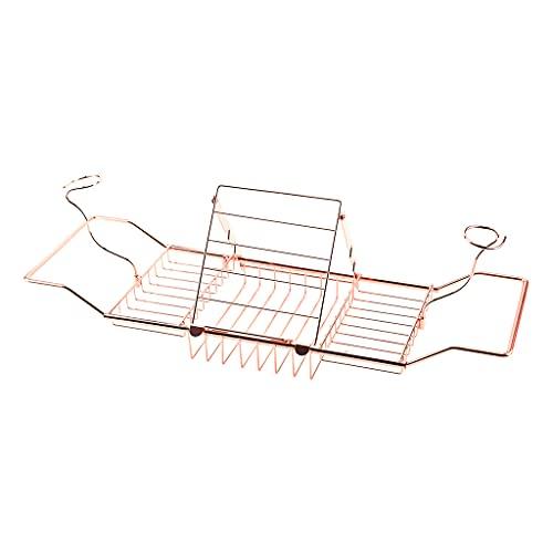 Xzbnwuviei Estante telescópico para vino de baño, soporte telescópico de metal, antideslizante, retráctil, para libros, para baño, bandeja de ducha, organizador de ducha