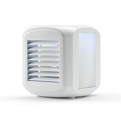 Taurus Snowfield Mini - Mini climatizador evaporativo, Mini cooler, Aire acondicionado portátil, Mini ventilador, Con luz, 640ml, 3velocidades, Ventila, refresca y humidifica, Depósitos refrigerables.
