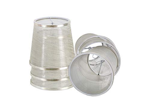 DULEE - Pantalla para lámpara de araña (15,24 cm (6 pulgadas), hecha a mano), metal, dorado, Clip On with 6 pack