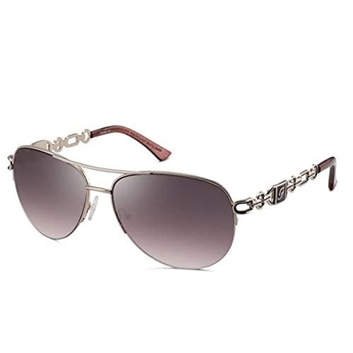 ZHSGV Casual Parasol Gafas de Sol polarizadas de Alta Gama de Gafas de Sol de Las Gafas de Sol de la Manera Europea y Gafas de Sol de Las Mujeres de América del Mismo Estilo GM Mismo Estilo