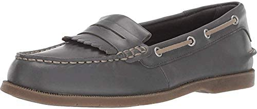 Sperry Womens Conway Kiltie Loafers Flats Casual - Grey