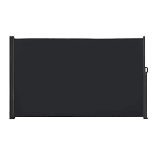 sailun toldo lateral (Visión Protección Protección Solar, cortavientos, 160/180x 300cm Antracita/Gris/Beige Toldo plástico de poliéster