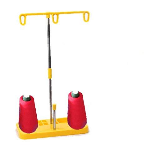 1 juego pedestal de hilos 3 Carretes porta hilos de bordado carretes de bobina Máquina de coser del estante del sostenedor para el hogar Accesorios de costura de la máquina...