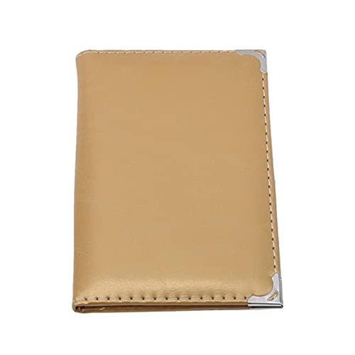 Aiasiry Titular de la Tarjeta de crédito de la Cubierta Protectora de la Licencia de Conducir para Tarjetas de Documentos del vehículo (Dorado)