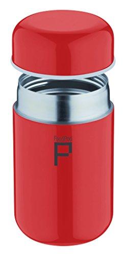 Pioneer FoodPod Thermo-Speisebehälter 400 ml Edelstahl Doppelwandig Isolierbecher für Lebensmittel 6 Stunden Heiß 24 Stunden Kühl Auslaufsicher BPA-Frei – Rot