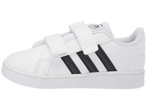 adidas Baby Grand Court Sneaker, Black/White, 9K M US Toddler