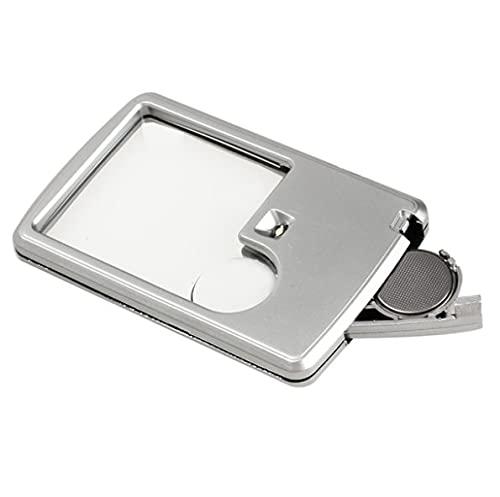 QINGJIA Lámpara de LED Espejo de Mano de la joyería de acrílico Cuadrada Lente de Aumento valoración del Reloj de reparación de Soldadura Lupa Aparato Lectura/Obeservación/Reparación