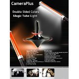Camera Plus CP-MTLIID (2 batterie Pack) - Tubo Magic Light 55 centimetri Double Sided 298 colori LED Light Source per la macchina fotografica - All-in-One Solution per la fotografia e videografia - Advance versione di Ice Luce