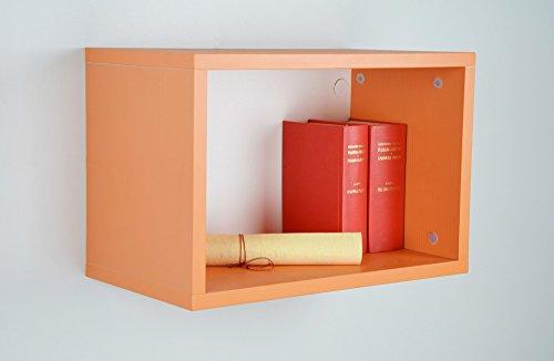 MIT Design Store Petit Meuble modulable ZEUS 1, élément Haut Ouvert (Orange)