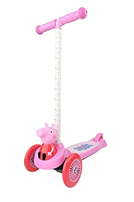 Dimensions 3D Peppa Pig Self Balancing Scooter ACTSCOT-429708P   Toddler Scooter & Kids Scooter, 3 Wheel Platform, Foot Activated Brake, 75 lbs Weight Limit, for Ages 3 and Up