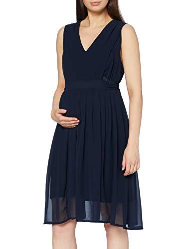MAMALICIOUS Damen MLGARBO Mary S/L Woven ABK Dress 2F A. Kleid für besondere Anlässe, dunkelblau, M