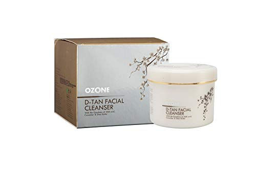 Ozone D-Tan Facial Cleanser with 100% Natural Extracts for Tan Removal, Sun Damage Protection and Skin Whitening