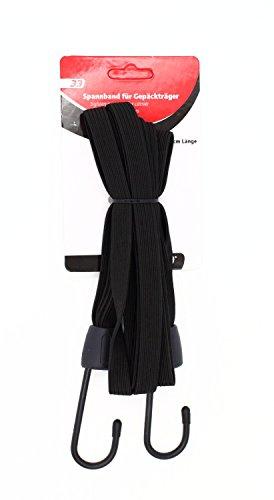 Taq-33 bagage-spanband 4-voudig met 2 haken zwart 61 cm