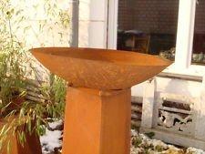 Zen Man Feuerschale Pflanzschale Kerzen Edelrost Neu 50cm 1.8mm rund Gartendeko Metall Eisen