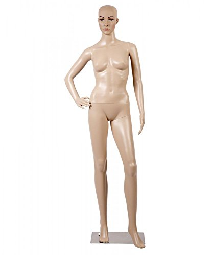 Mannequin Manikin Dress Form Female Full Body 69 Inch Adjustable Mannequin Stand Realistic Mannequin Display Head Turns Dress Model W/Metal Base