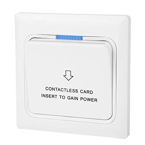 Interruptor de tarjeta de llave, 3.4x3.4in con 3Pcs Tarjeta de inserción de hotel de tornillo para energía, para recolección de electricidad Hotel doméstico