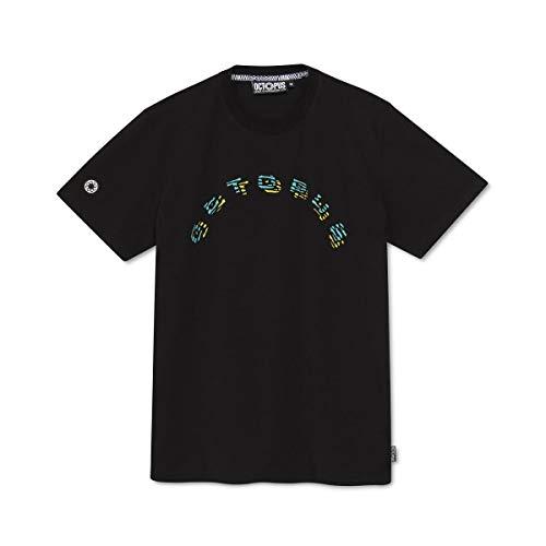 Octopus - T-Shirt Maniche Corte Stampa Fronte Retro - FINGERZ Logo - Black - (S)