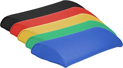 ATC Handel GmbH Massagehoofdkussen met kunstlederen bekleding in verschillende kleuren - 40 x 30 x 9 cm - hoofdkussen, zitkussen, steunkussen, bankkussen, therapiekussen voor thuis, massage of therapie gelb 37 x 23 x 7 cm