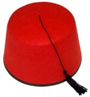 The Turkish Emporium Fez Chapeau Feutre Rouge Turc Tommy Cooper Noir À Pompons-DÉGUISEMENT-Chapeau-Unisexe