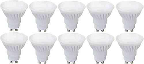 Spectrum Lot de 10GU10LED 10W blanc chaud 2700–3200K Angle de faisceau large (120°C) Ampoule Lampe Spot