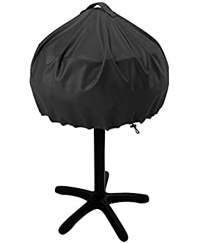 NUPICK Grill Cover for George Foreman 15-Serving GGR50B GFO3320 GFO240 Electric Grill Easy Take Off Handle Design All Weather Resistant Small Round Grill Cover