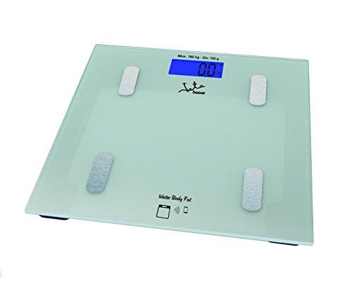 Jata Hogar 592 Analizador corporal y báscula con tecnología bluetooth y visor LCD